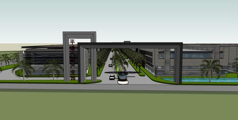 汽車產業園su模型