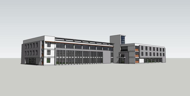厂房建筑楼su模型