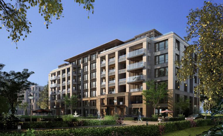 新中式风格住宅建筑模型设计