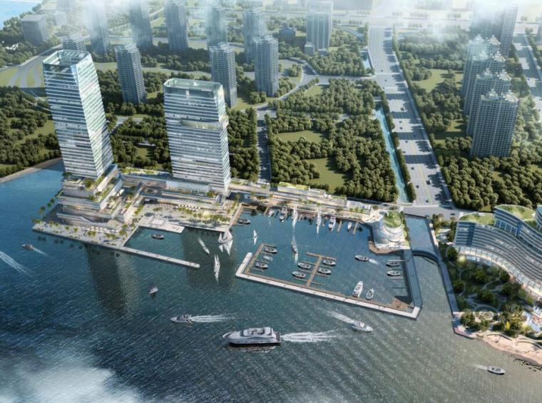 [海南]现代风格海港城旅游商业综合体建筑