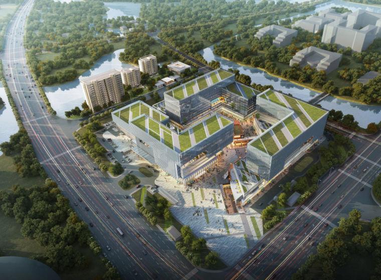 [浙江]现代风格商业办公湖景豪宅酒店建筑