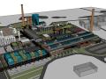 现代工业产业园景观su模型