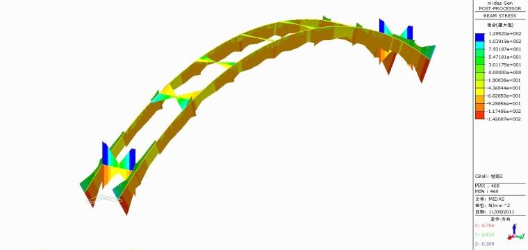 河南省钢结构城市人行天桥结构计算书