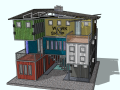 三层集装箱办公建筑模型设计