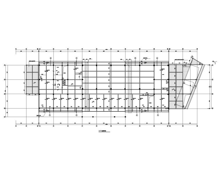三层框架结构车站站房大楼结构施工图