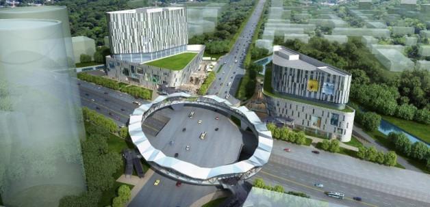 复杂情况下大跨钢结构人行天桥结构设计研究