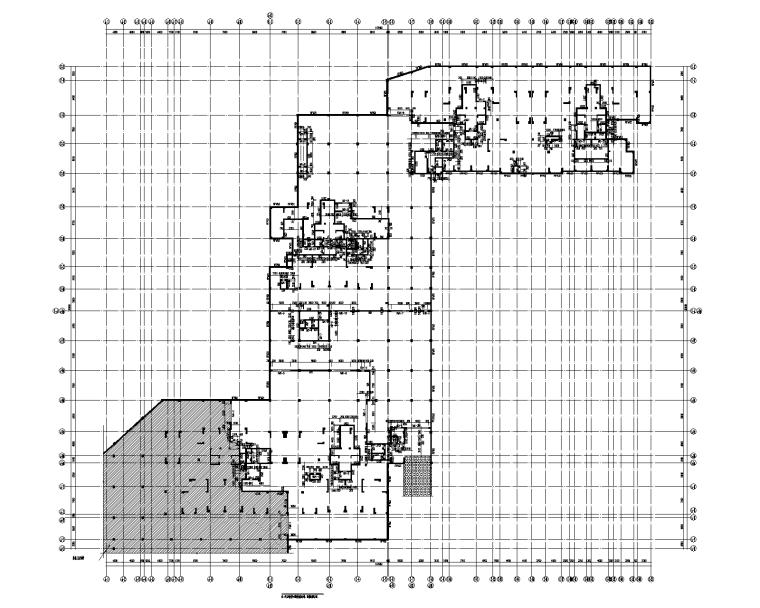 现浇钢混梁板结构人防地下室结构施工图