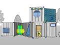 儿童乐园集装箱建筑模型设计