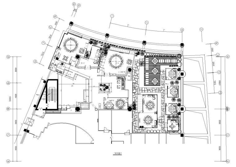 利百加-中式茶餐厅CAD施工图+效果图