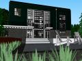二层集装箱别墅建筑模型设计