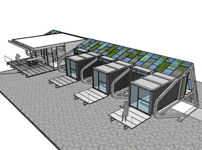 集装箱家庭住宅建筑模型设计