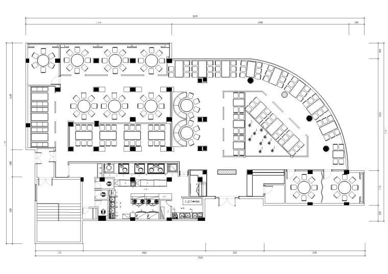 [福建]品川-福州得悦餐厅CAD施工图+效果图