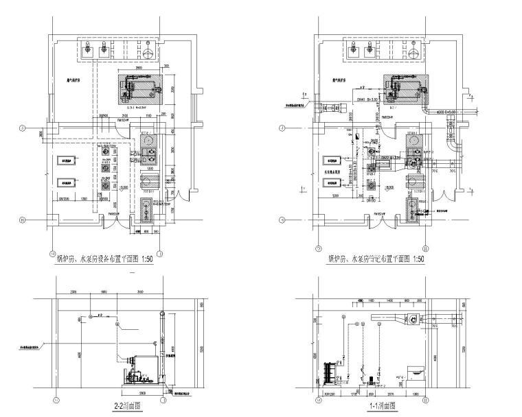 天水体育中心体育学校锅炉及换热站施工图