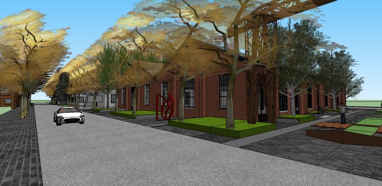 仓房工业园区改造su模型