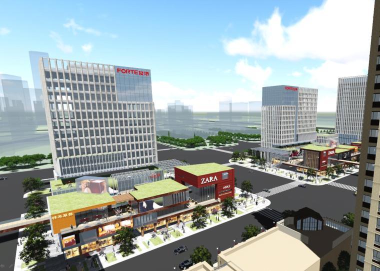 现代风格综合体住宅建筑模型设计