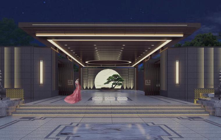 [河南]新中式風格天地龍溪城景觀設計