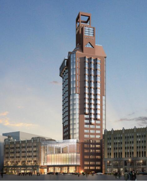 高层办公大楼改造项目幕墙深化图2015-建筑效果图