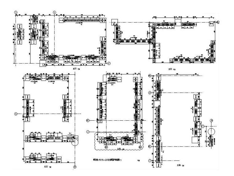 剪切型金属抗震阻尼器减震结构设计施工图