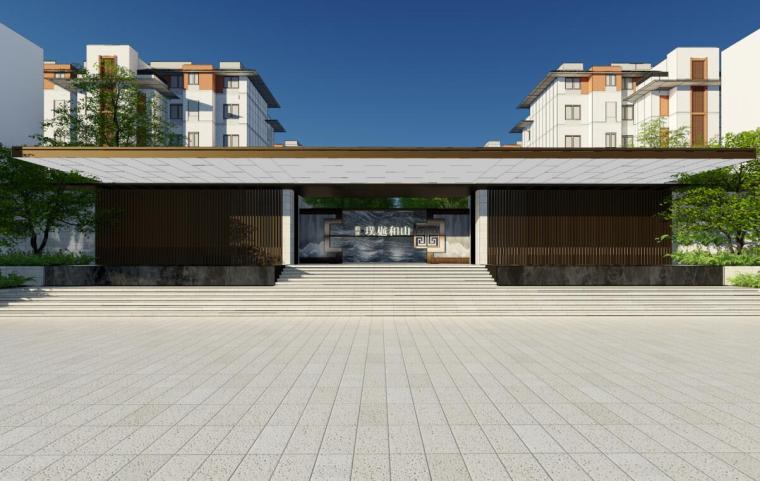 [江苏]新中式风格居住区景观概念设计方案