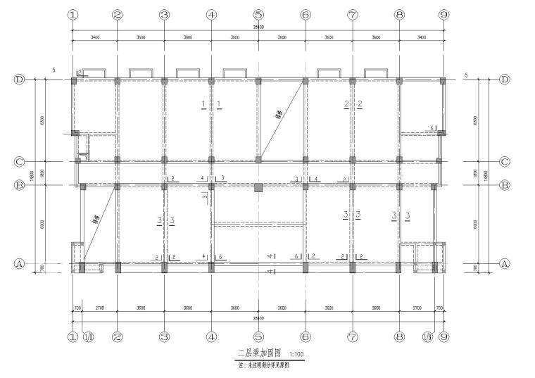 三层框架结构污水处理厂结构加固施工图