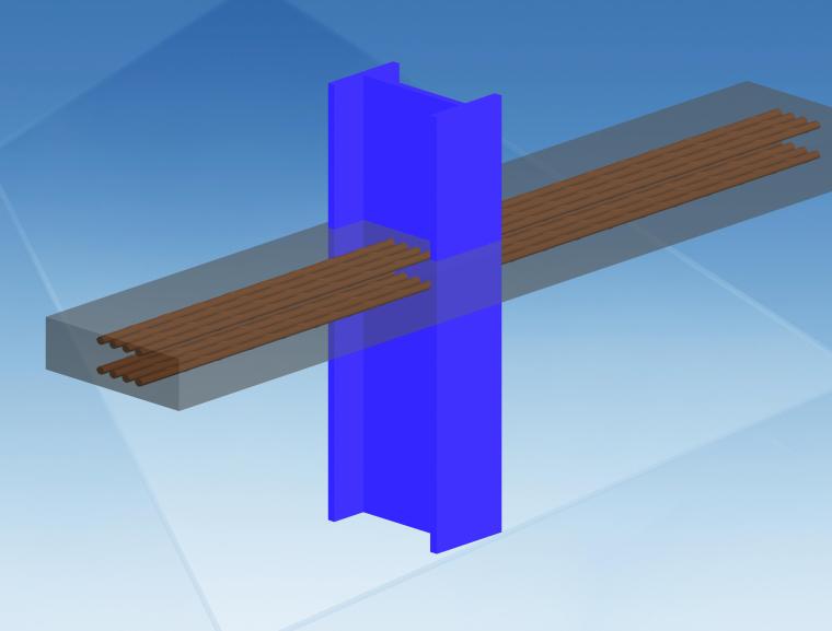 20钢柱穿筋孔节点