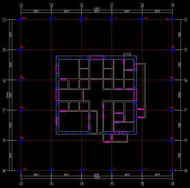 22钢结构1#塔楼平面布置图