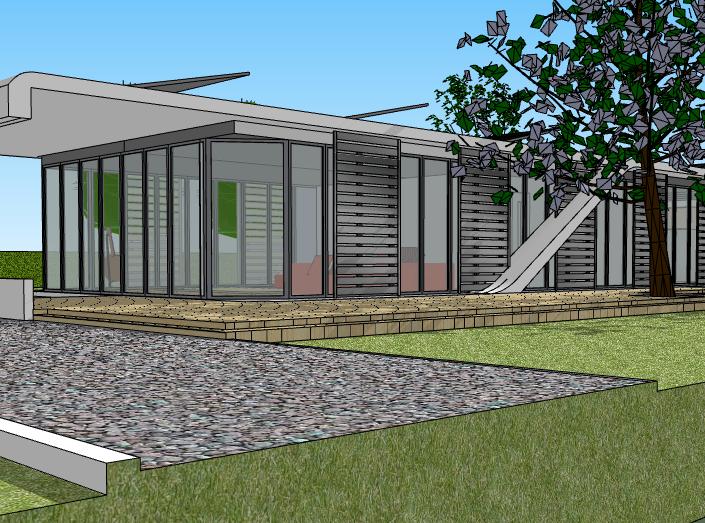 集装箱住宅绿色建筑模型设计