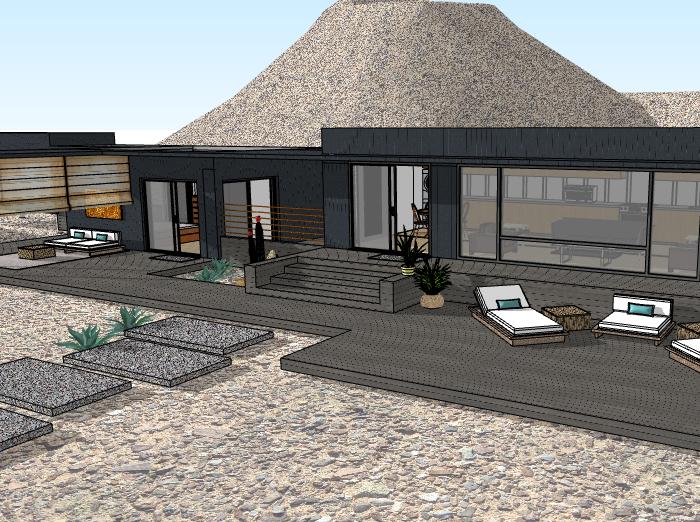 集装箱度假别墅建筑模型设计