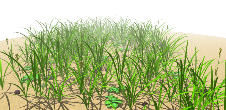 3套3D景观植物su模型-逼真模型