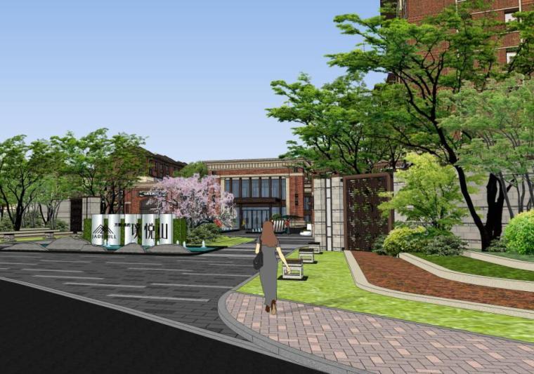 [江苏]新中式风格示范住宅区景观概念方案
