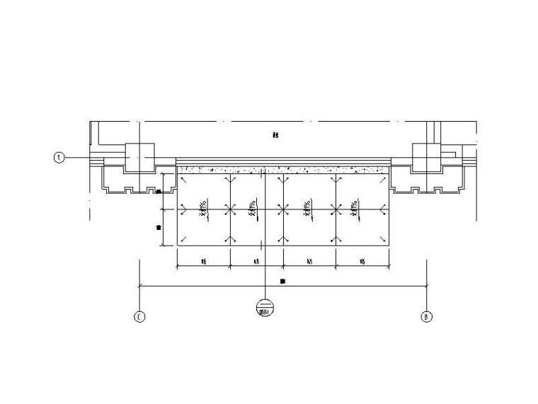 116m超高层大厦幕墙深化设计施工图(2014)-雨篷大样图