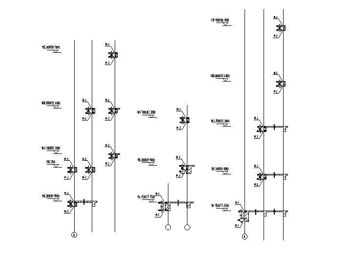 116m超高层大厦幕墙深化设计施工图(2014)-埋件剖面图