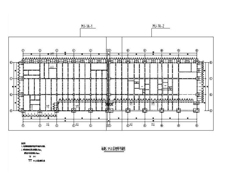 116m超高层大厦幕墙深化设计施工图(2014)-埋件平面图