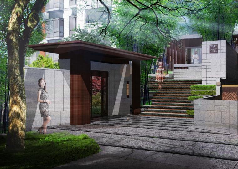 [江苏]新中式风格示范区景观深化设计