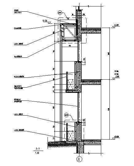 石材幕墙深化设计施工图2014-幕墙剖面图