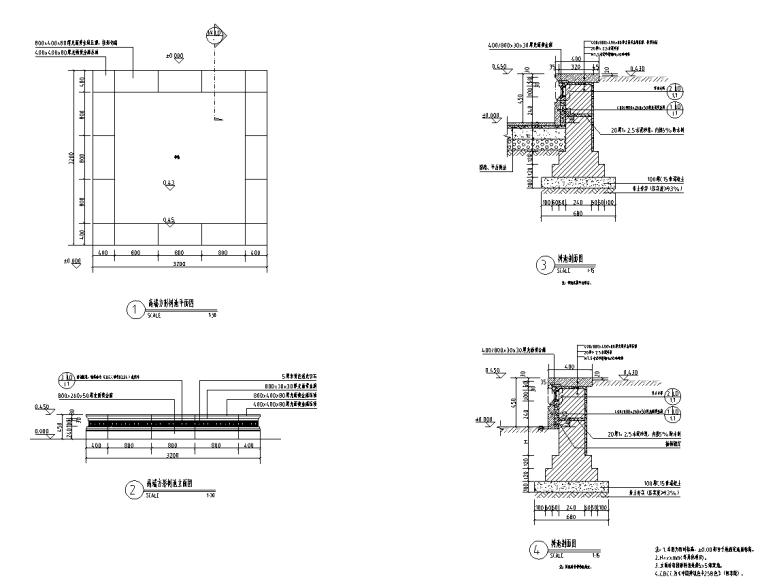 景观细部施工图|高端树池详图设计