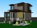 小型集装箱住宅建筑模型设计