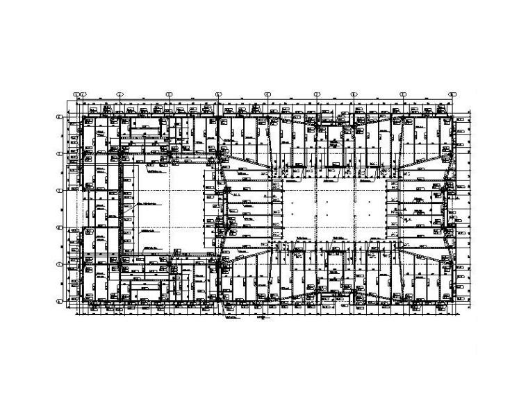 21层钢结构大厦深化设计图(钢梁框架核心筒)
