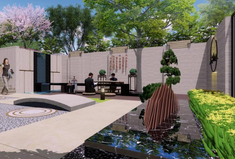 [广东]现代风格展示区景观深化设计方案