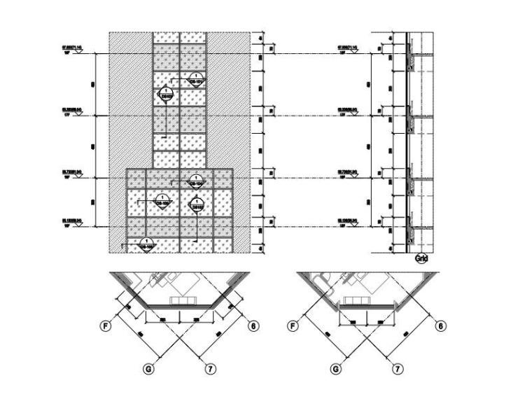 高层办公大楼改造项目幕墙深化图2015-塔楼角部大样
