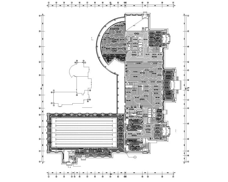 四层住宅会所暖通设计施工图