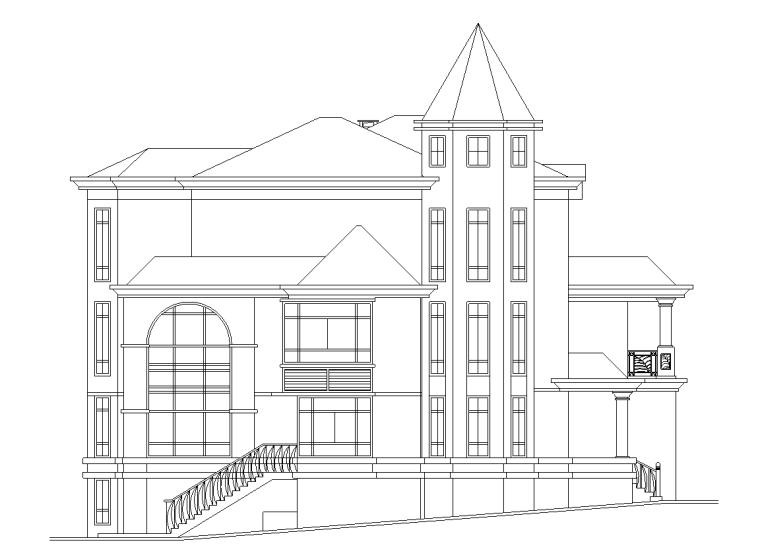 3层独栋别墅建筑施工图设计
