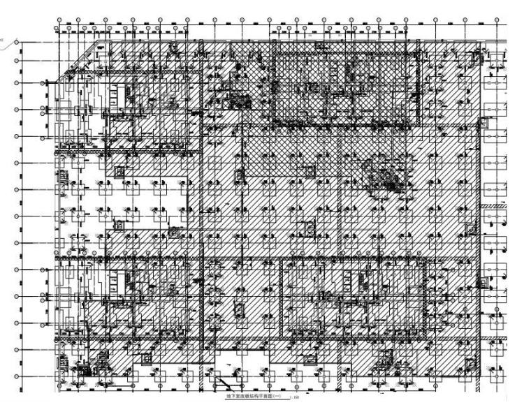 钢混框架结构地下室结构施工图(预应力管桩)