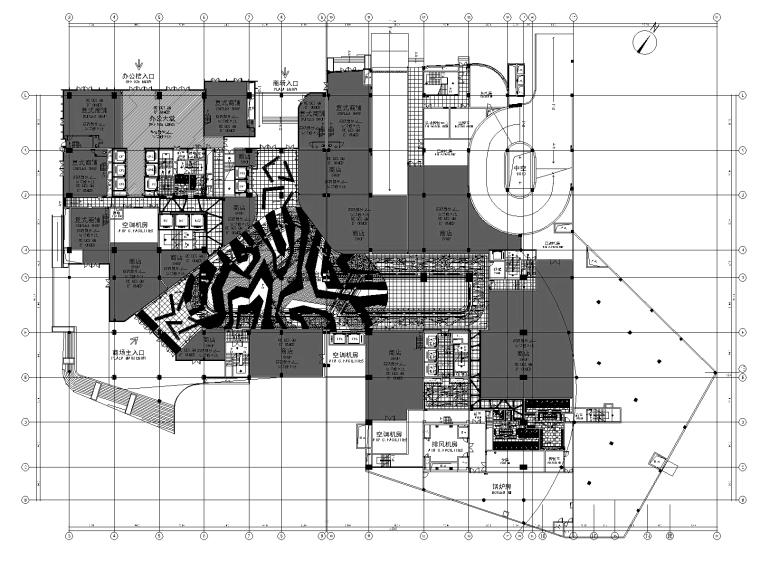 [重庆]凯悦商场CAD施工蓝图文件+效果图