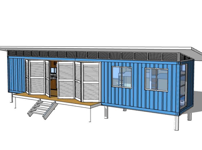 集装箱宿舍建筑模型设计