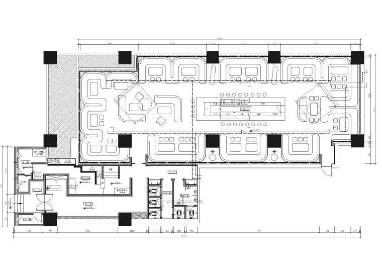CASH酒吧室内装饰工程装饰施工图+效果图