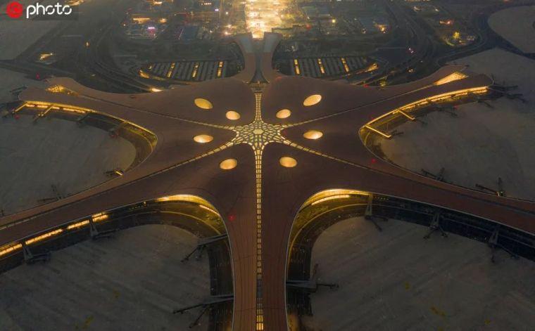 北京大兴机场首日通航,提前献礼建国70年_35