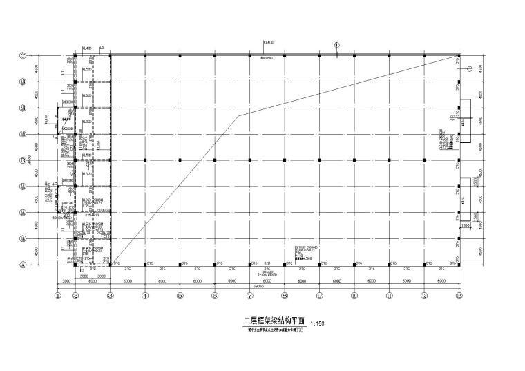 [厂房结构]某三层钢结构厂房结构施工图纸