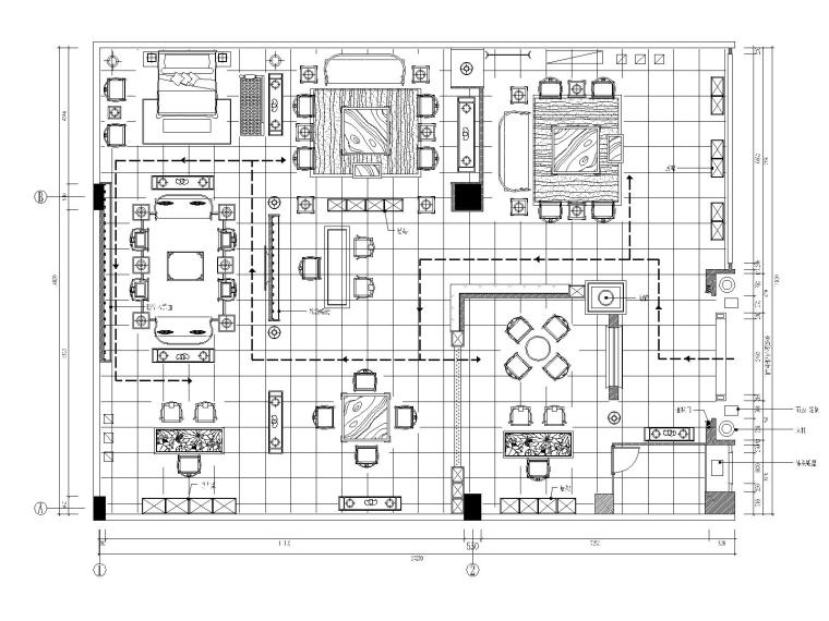 [北京]某中式家具店装修施工图+效果图