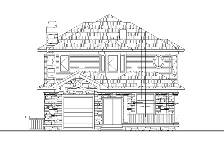 三层独栋别墅建筑施工图设计